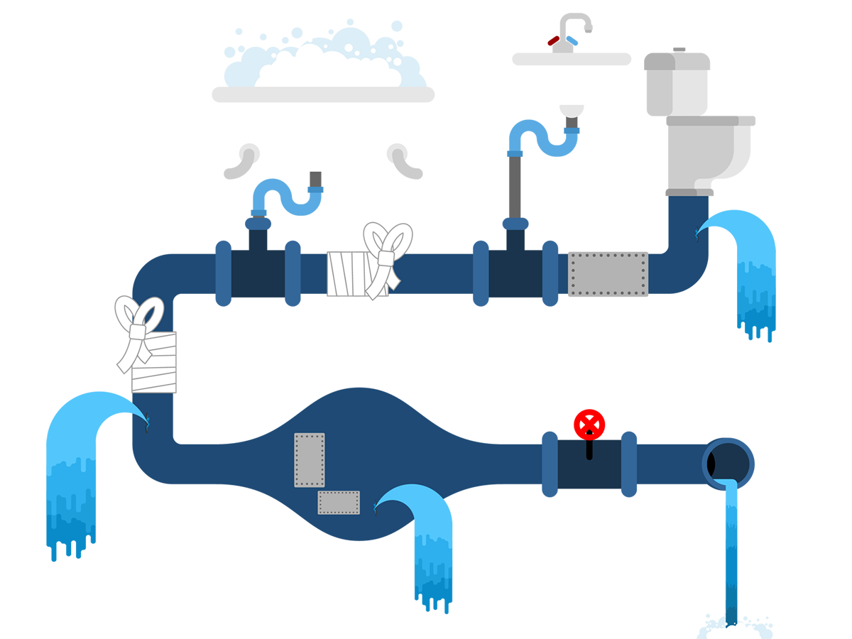 Home Plumbing Illustration